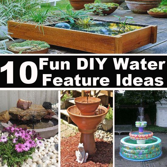 10 fun diy water feature ideas diy top things pinterest