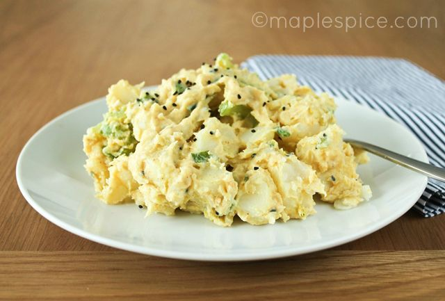 Creamy Curried Potato Salad - vegan. | Pretending to cook | Pinterest