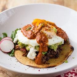 Huevos Rancheros with Smoky Spicy Guacamole and Grain-Free Tortillas ...
