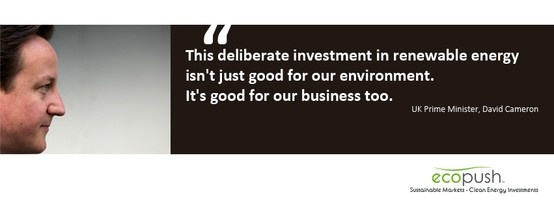 David Cameron on Clean Energy Investment. Brought to