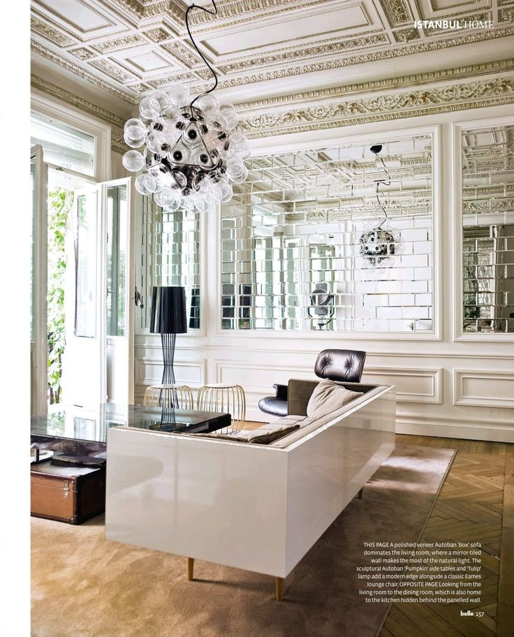 Open House Interiors Pinterest - mirror tiles with wall designs