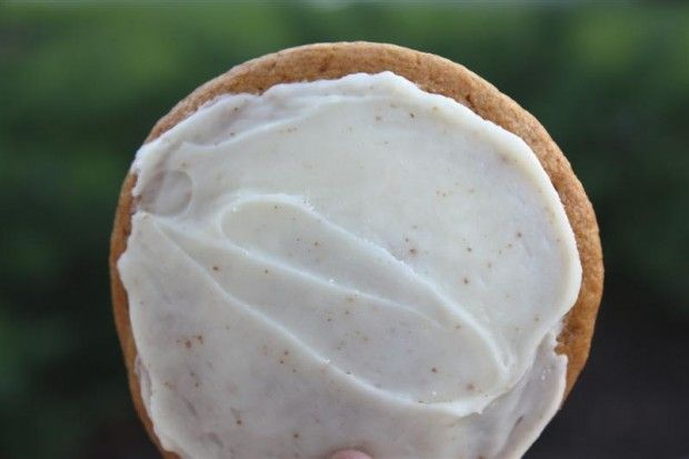 Pumpkin Cookies with Brown Butter Icing - Nutmeg Nanny