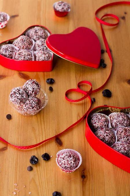 Dark Chocolate Cherry Walnut Truffles from Oh She Glows. Yum!