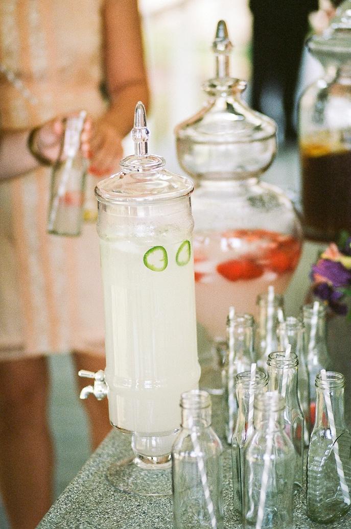 Jalapeño Lemonade, Strawberry Lemonade, wedding day table set up ...