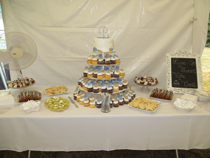Beach Wedding Reception Dessert Table <3