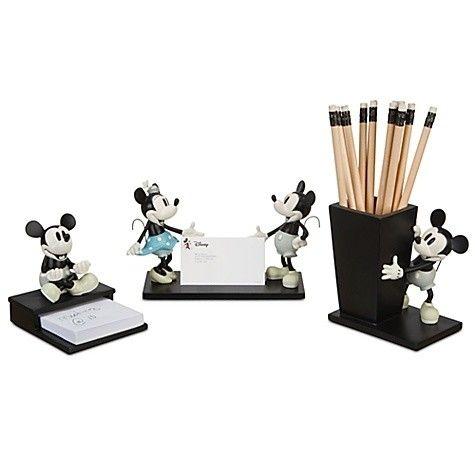 Mickey office accessories walter elias disney pinterest for Disney office decor