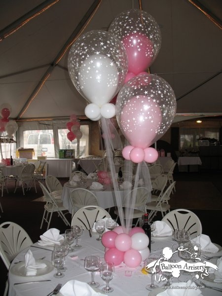 baby shower balloon centerpieces for girls pink baby shower balloon in