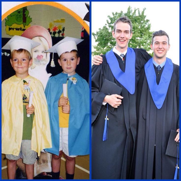 12. Two friends from kindergarten to high school graduation.