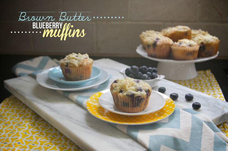 Brown Butter Blueberry Muffins | Sweet Treats! | Pinterest