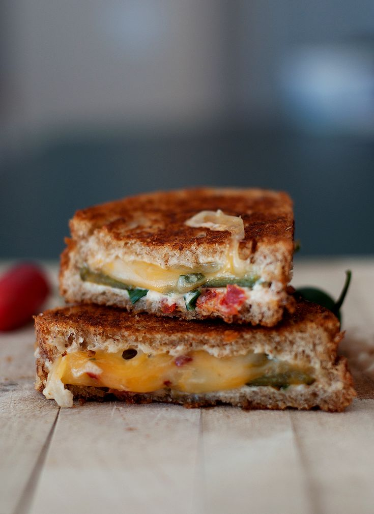 Jalapeno Grilled Cheese: Roasted fresh jalapenos, cream cheese....yum ...
