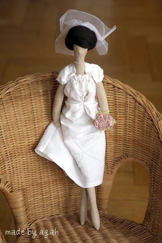 Пользовательские Ткань OOAK куклы, сделанные под заказ для невесты или подружки невесты