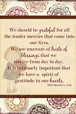 my goal for this week...an attitude of gratitude.