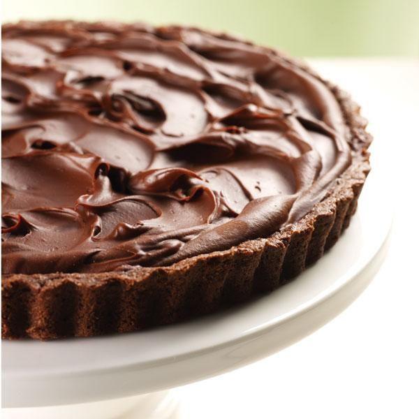 Bittersweet Chocolate Almond Tart | More Desserts | Pinterest