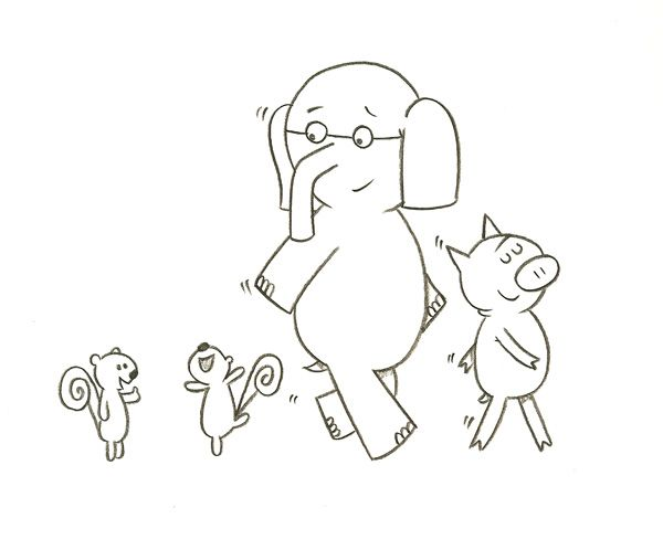 Pin by hilary roberts king on elephant and piggie for Piggie and elephant coloring pages