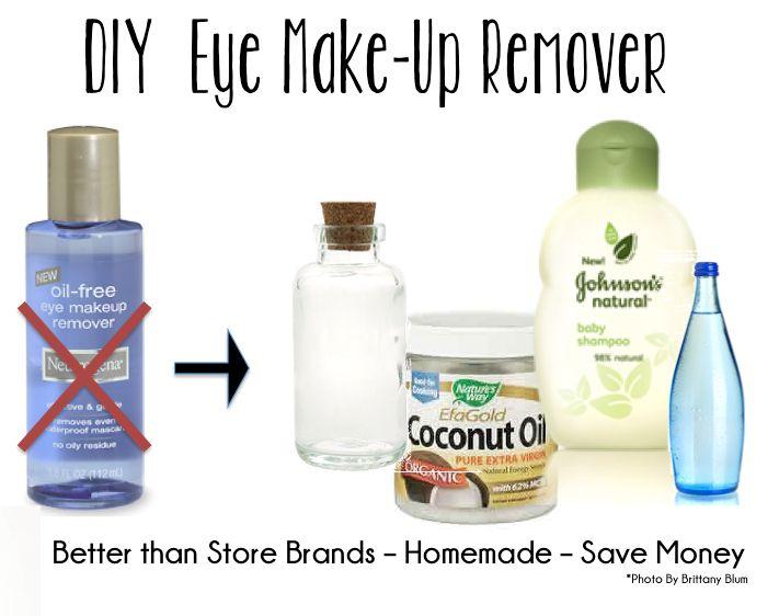 Homemade Eye Makeup Remover   Homemade Cosmetics   Pinterest