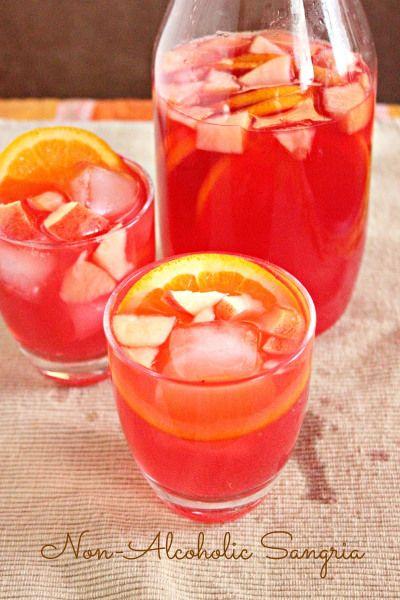 Non Alcoholic Sangria   Recipes   Pinterest