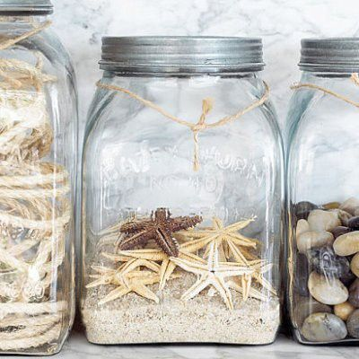 beach in a bottle... how cool! Vacation jars.