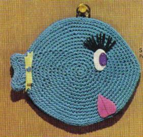 Free Crochet Fish Potholder Pattern : free crochet fish potholder pattern Potholders Pinterest