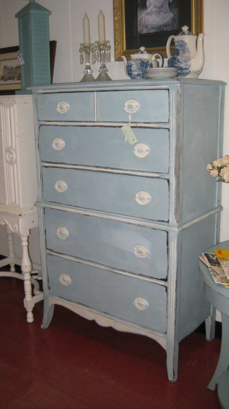 Best Baby Blue Chest Of Drawers Painted With Chalk Paint 325 400 x 300