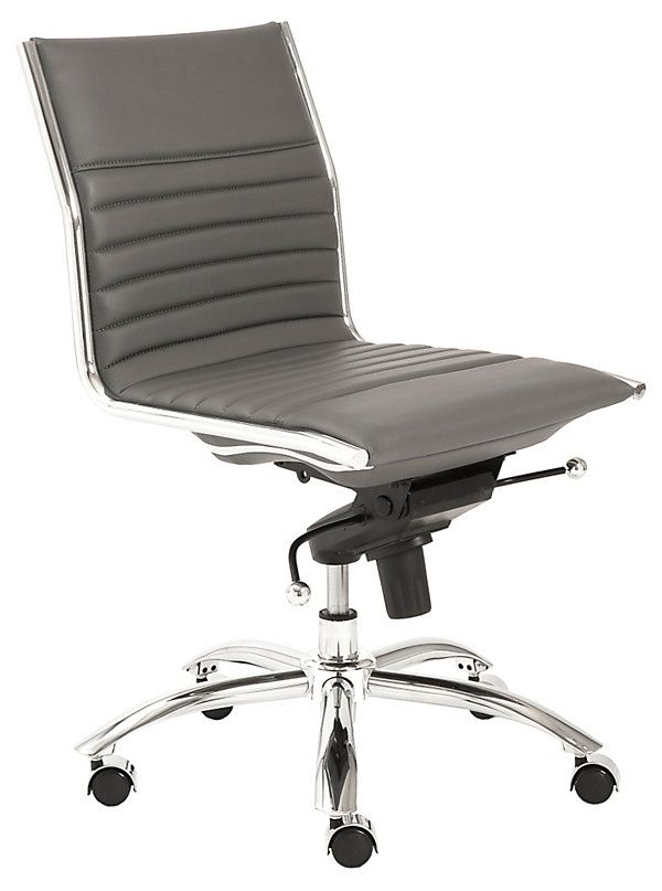 cami armless low back office chair gray