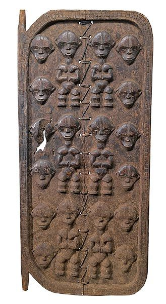 Africa |  Fang Door.  The Fang are not known for their doors but for their masks and reliquary guardian figures and heads (Bieri). The carving on this door imitates the proportions and feel of Bieri figures and heads | © Tim Hamill