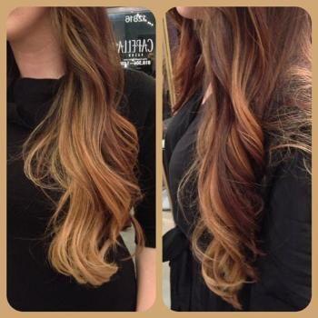 Ombre beautiful long hair blonde natural