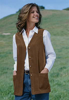 Long vest for fall. This is beautiful