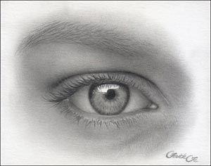 drawing the human eye, art tutorial