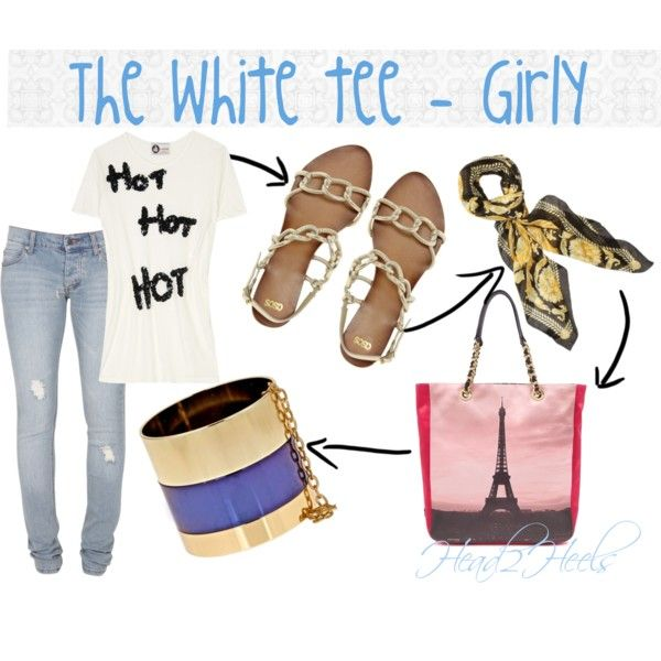 """The white tee - Girly"" by head2heels on Polyvore"