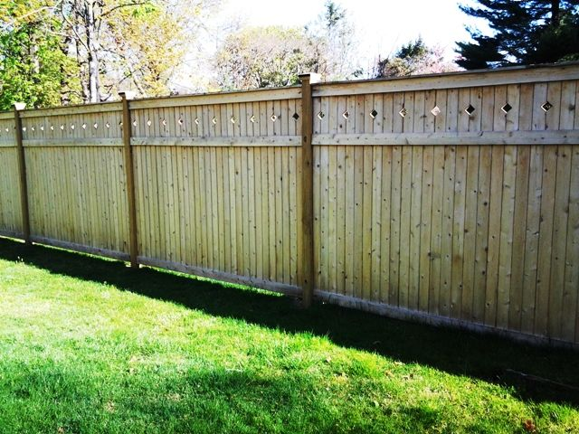 wood privacy fence wood fence pinterest