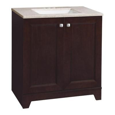Madison 30 1 2 In Vanity In Java With Solid Surface