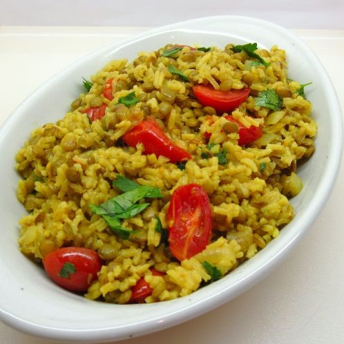Curried Lentils and Rice is solid and satisfying while being very ...