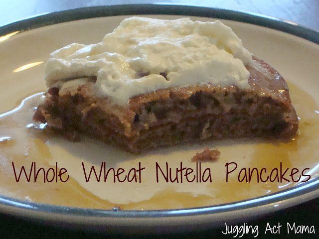Whole Wheat Nutella Pancakes | Achieve!! | Pinterest