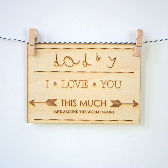 wooden fathers day picture frame