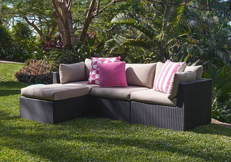 4 pce cintia wicker setting black sand the outdoor for Outdoor furniture specialists
