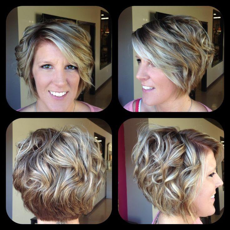 Short hair, inverted bob, curls, beachy hair, ombré look for short ...