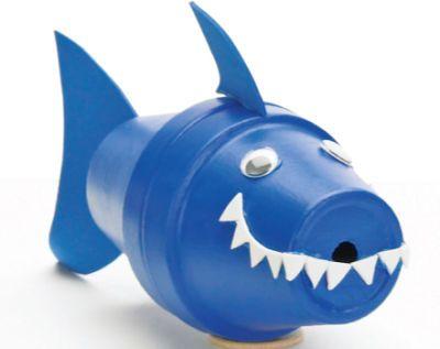 Clay Pot Critter-Blue Shark