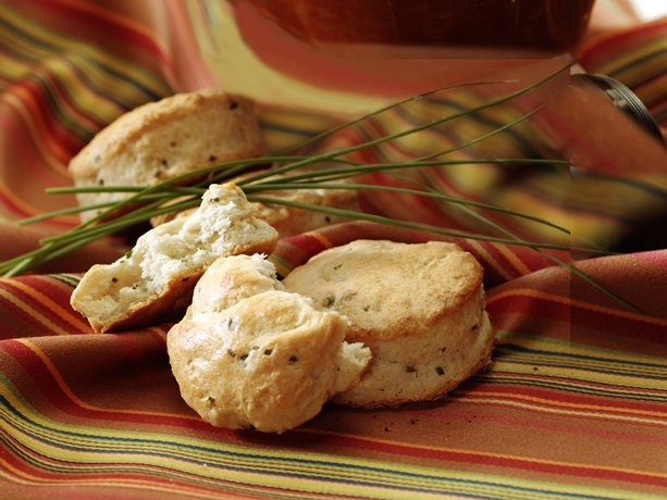 Sour Cream and Chive Biscuits - made this this morning, added gruyere ...