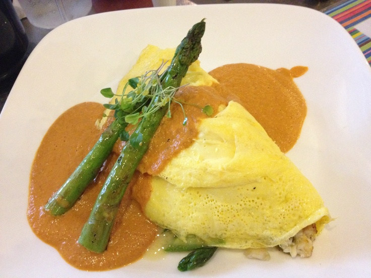 ... and never wanted to leave. This is a crab omelette with lobster sauce