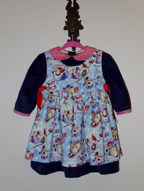 Christmas dress infant dress pattern 12 to 18 months christmas