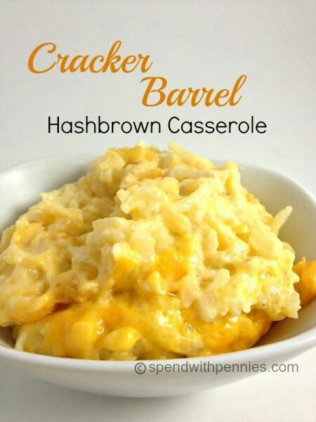 Cracker Barrel Hash brown Casserole | food!!!! | Pinterest