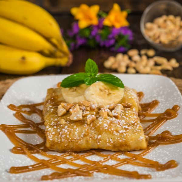 Caramelized Banana Crepes with Peanut Butter Sauce…a delicious ...