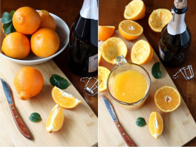 Tangerine Sorbet Champagne Floats - these look amazing!