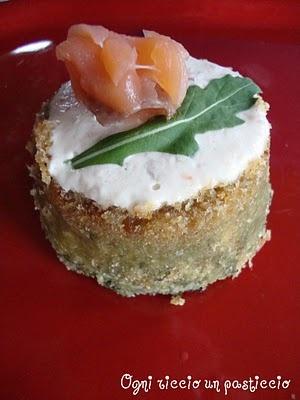 Tortino di spinaci al Salmone - Spinach salmon Patty