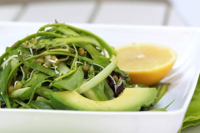 Ribboned Asparagus Salad With Lemon Recipe — Dishmaps