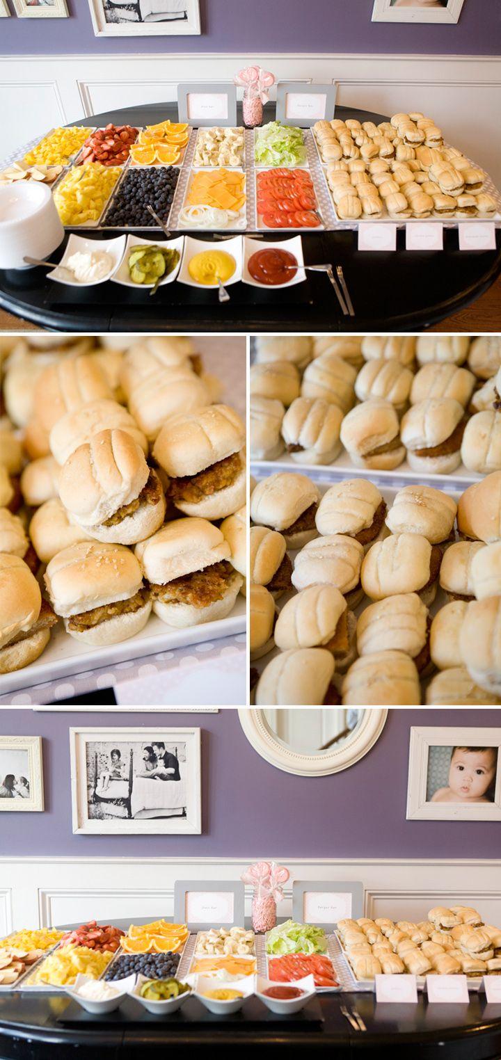 DIY burger bar. Nice idea for party...