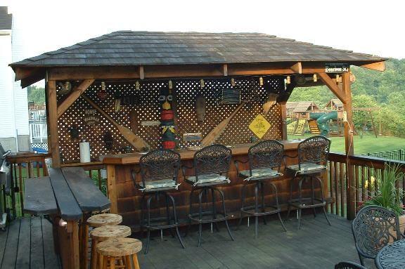 Backyard Tiki Bar Pictures : Pin by Linda CMG on Tiki Bar  Pinterest