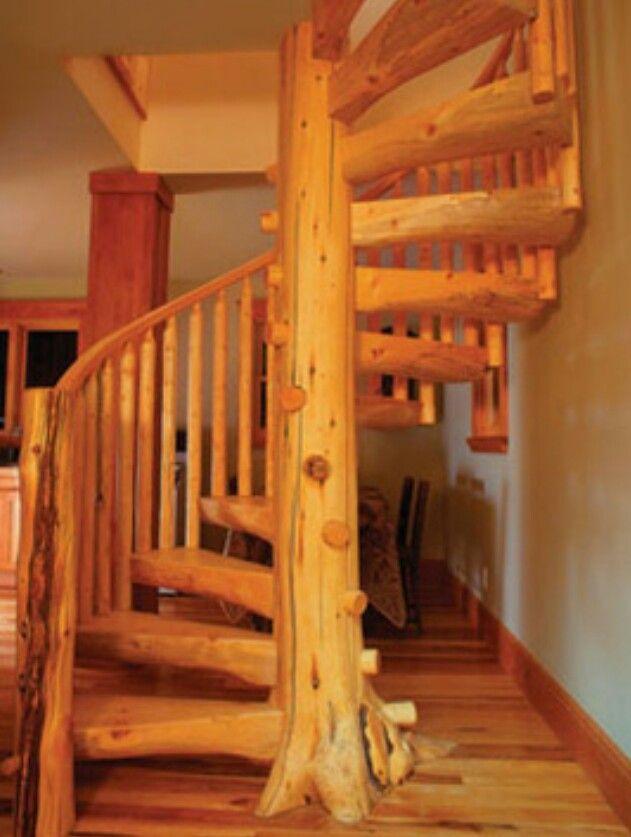 Best Spiral Staircase Log Cabins Pinterest 400 x 300