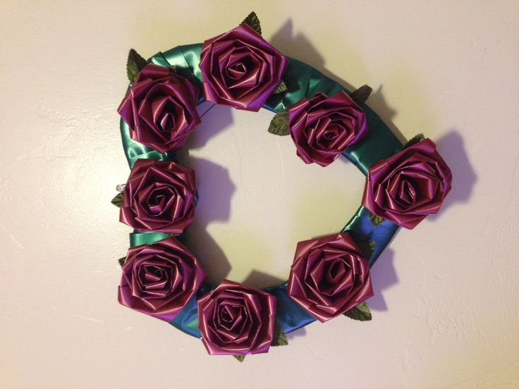 heart wreath for valentines day