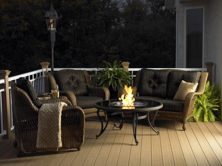 Outdoor Greatroom Black Glass Fire Pit Table